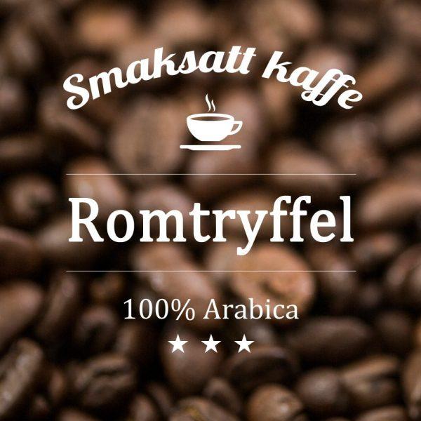 Arabicakaffe med romtryffel som smaksättning. Ett kaffe med smak av choklad med en hint av rom.