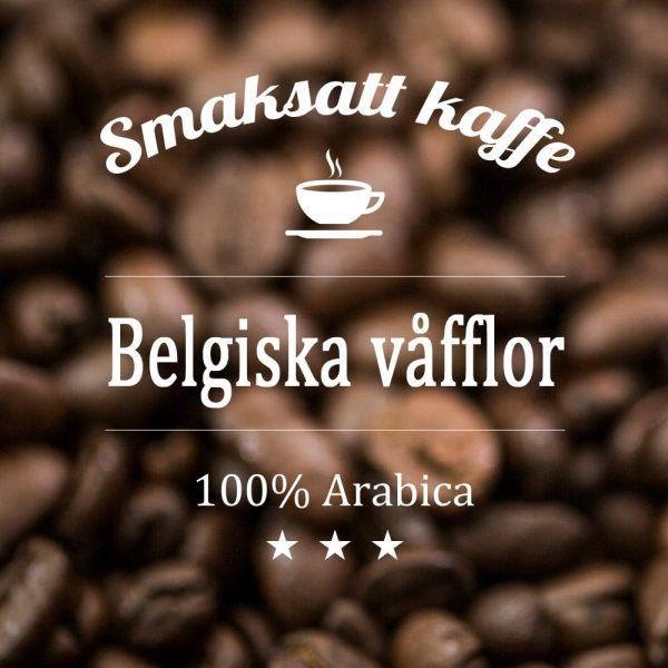 Belgiska våfflor - smaksatt kaffe