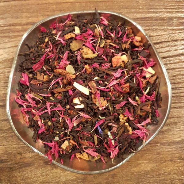 Brända mandlar - svart te