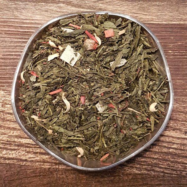 Grönt te med en exotisk smak av kaktusfikon. Innehåller bitar från fikonfrukten, aloe vera bitar samt apelsinblommor.