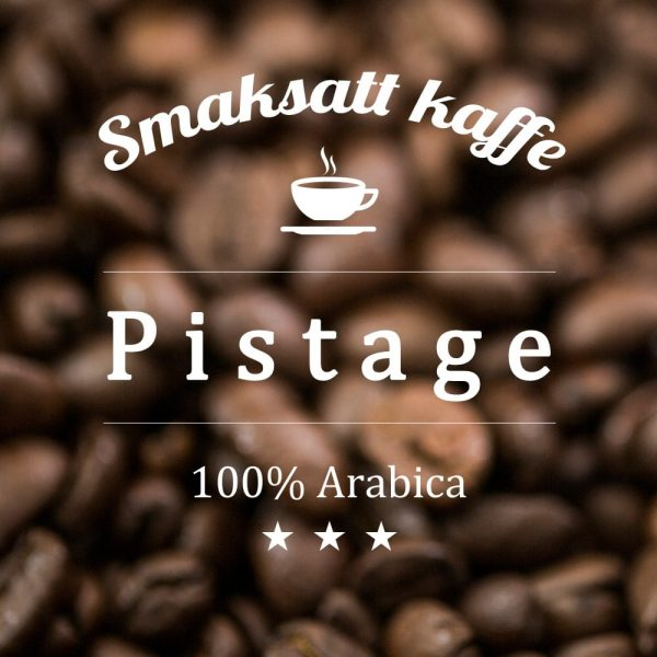 Kaffe med arom och smak av pistagenötter. Gott som det är eller med en skvätt mjölk eller grädde.