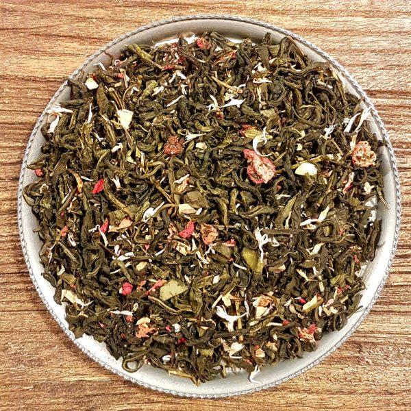 Rabarber och jordgubb - grönt te