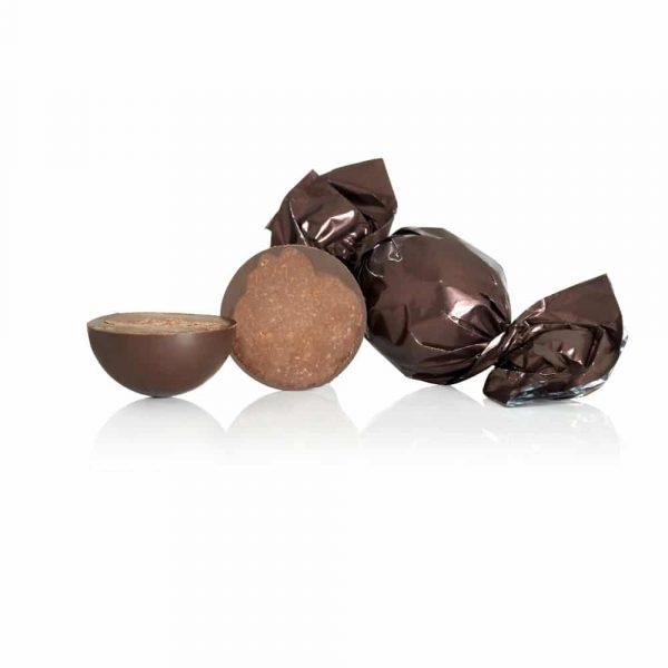 Mörk chokladtryffel med mintchokladfyllning, 10 st
