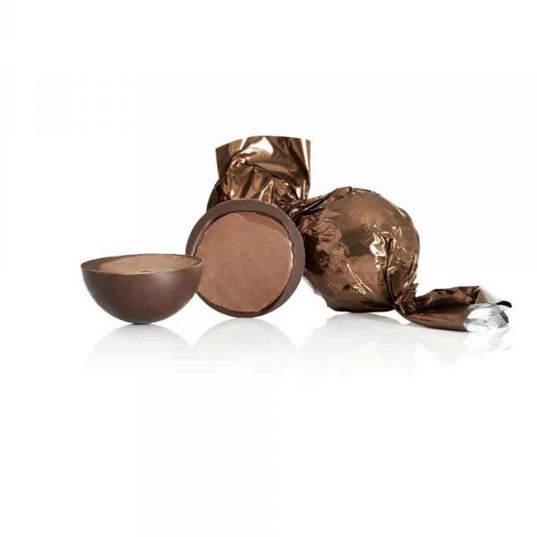 Fylld mörk chokladtryffel med karamellcrunch och havssalt, 10 st
