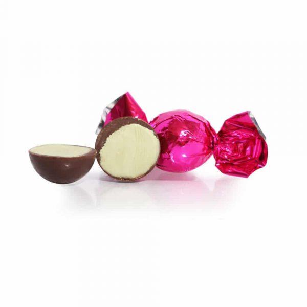 Fylld mörk chokladtryffel med smak av pistage, 10 st