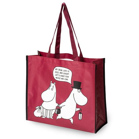 "Mumin shoppingkasse ""Let´s have fun"" 41x35 cm"