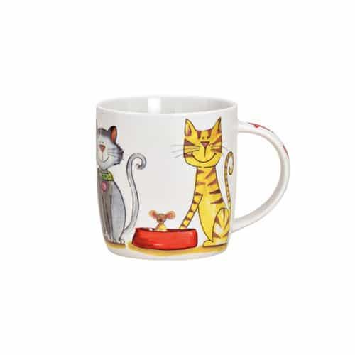 Porslinsmugg med katter, 365 ml