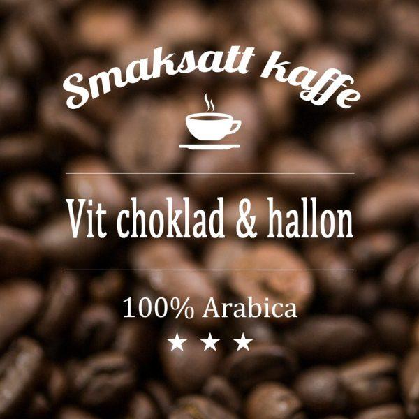 Vit choklad och hallon - smaksatt kaffe