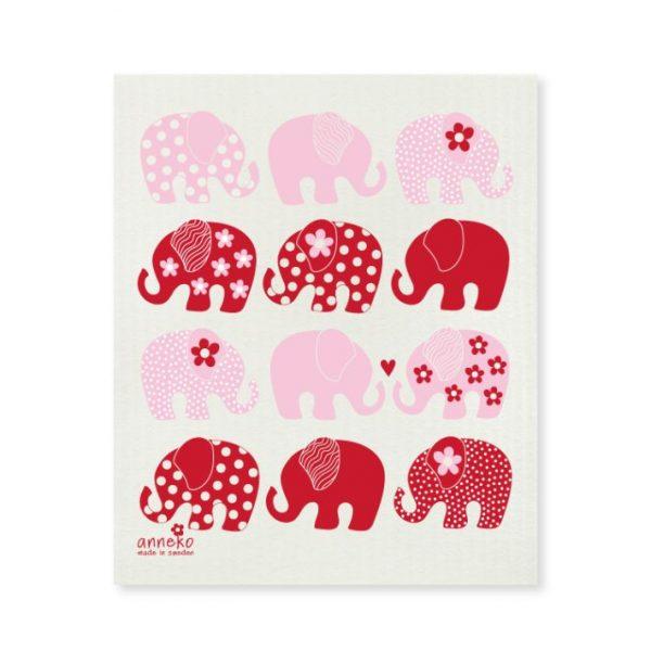 Anneko disktrasa, Rosa elefanter