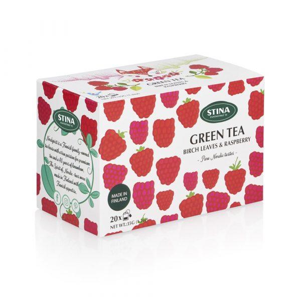 Pure Nordic tastes påste - Grönt te med smak av hallon och björkblad.