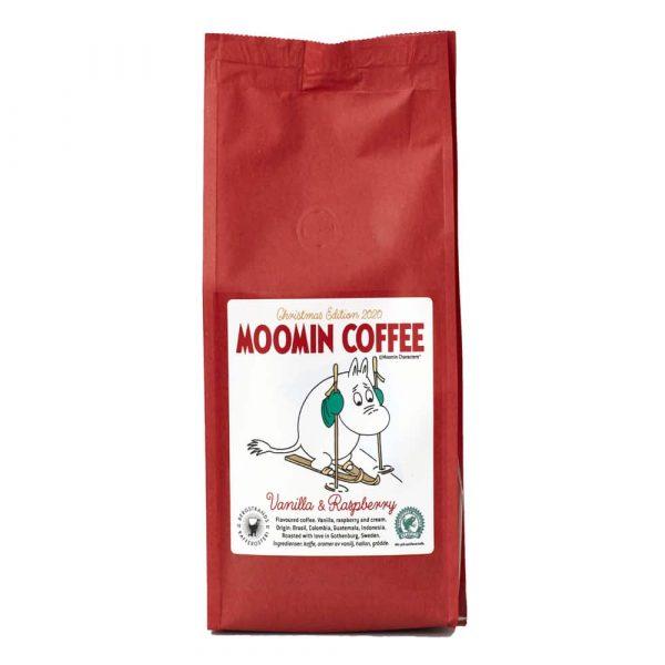 Muminkaffe Christmas Edition 2020, Vanilj och hallon - smaksatt kaffe 250 g bryggmalet