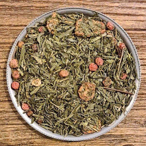 Jordgubb och röda vinbär - grönt te