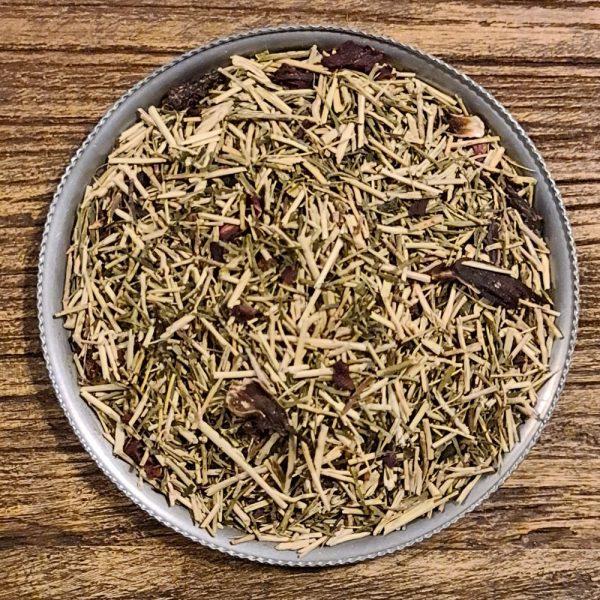 Hallon och körsbär Kukicha Eko - grönt te