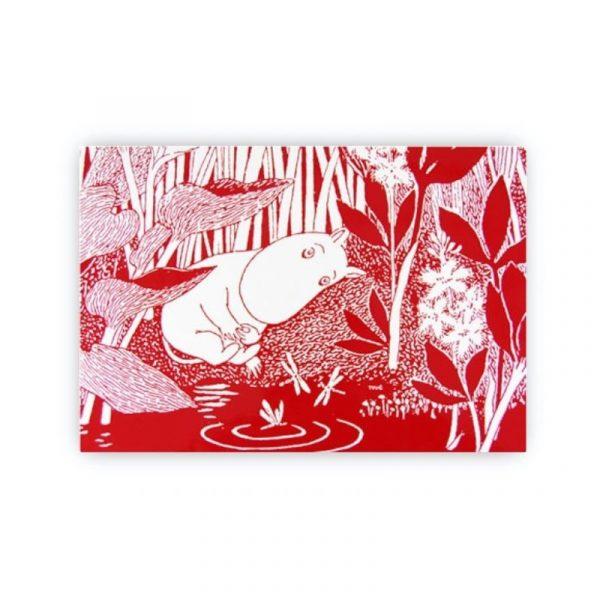 Bordstablett Mumin Sleeping Moomin röd 40x27 cm