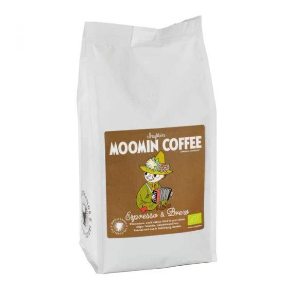 Muminkaffe Snusmumrikern, espresso - ekologiskt kaffe 250 g hela bönor
