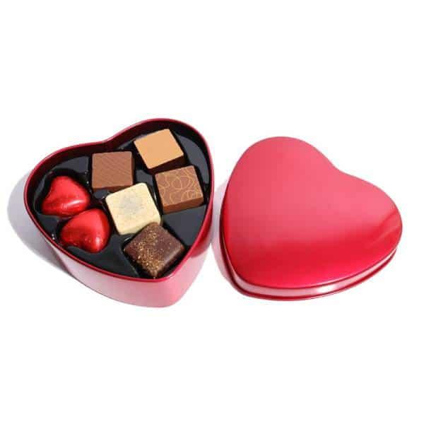 Plåthjärta med chokladpraliner 90 g