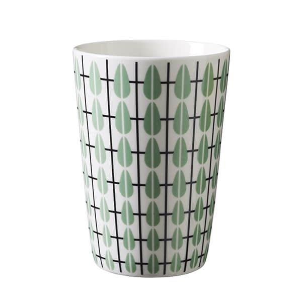 Lattemugg retromönster grön 400 ml
