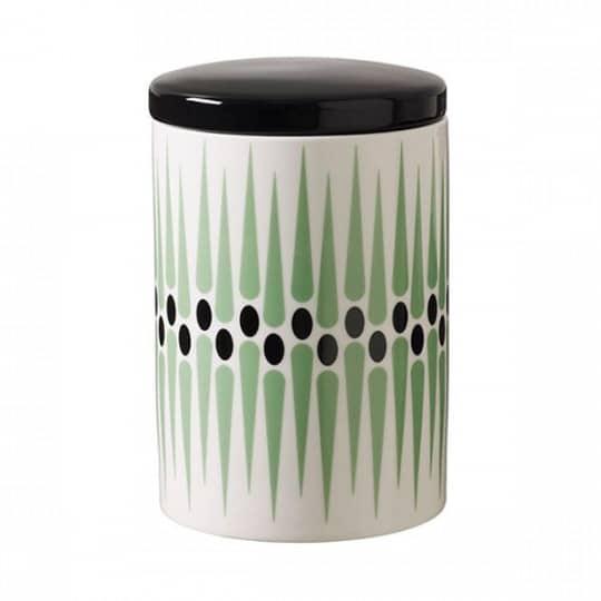 Burk retromönster grön H 15 cm