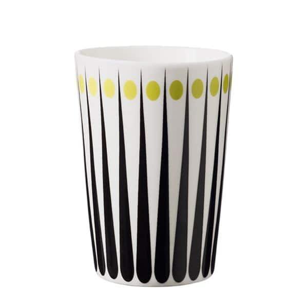 Lattemugg retromönster lime 400 ml