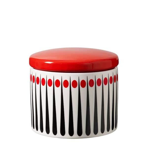 Burk retromönster röd H 10 cm