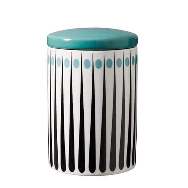 Burk retromönster ljusblå H 15 cm