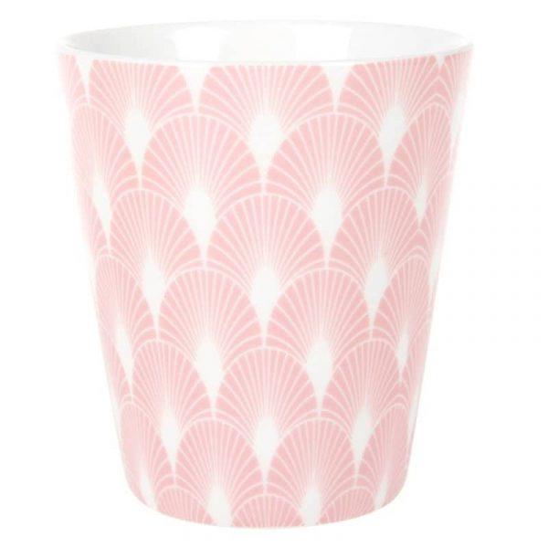 Lattemugg Rosa solfjäder, 300 ml