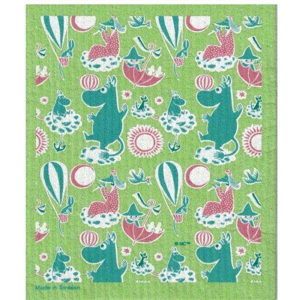 Mumin disktrasa, Retro Pattern, grön