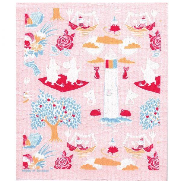 Mumin disktrasa, Retro Pattern, rosa