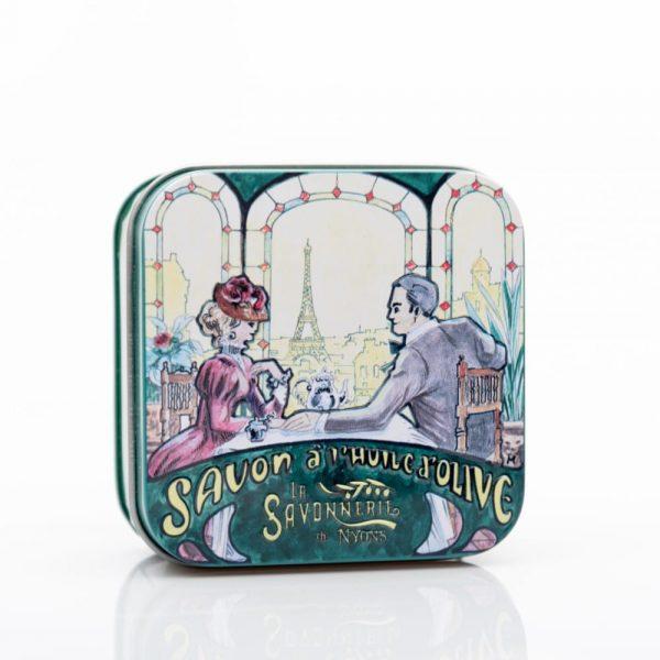 De Paris avec amour - Fransk tvål i plåtask 100g