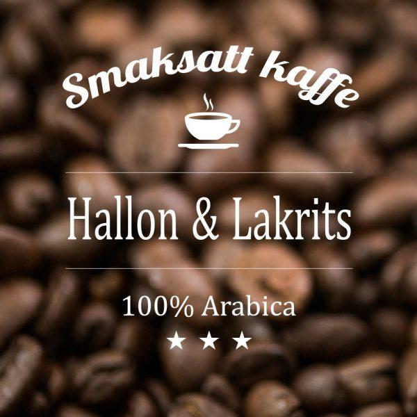 Hallon och lakrits - smaksatt kaffe