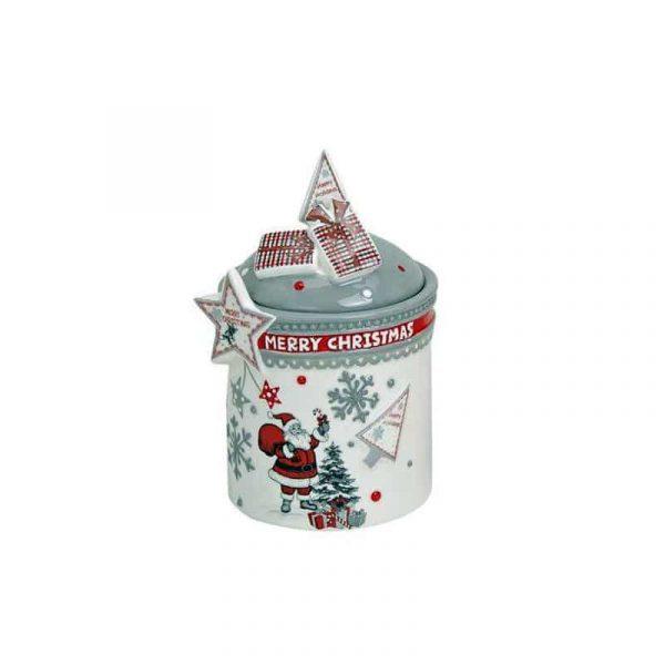 Burk julmotiv grå Ø 10 cm H 17 cm
